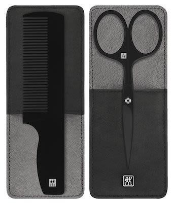 Zwilling TWINOX M. 2 piece case with black leather