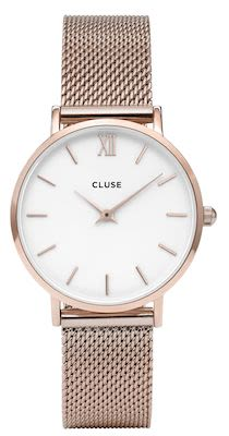 Cluse Minuit Ladies' Mesh Rose Gold Watch