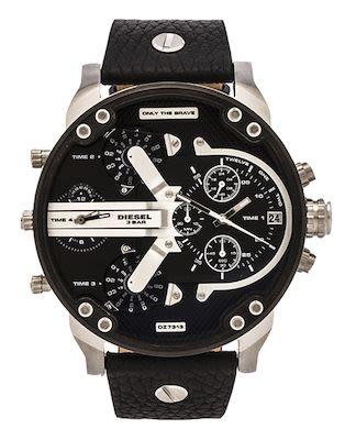 Diesel Gent's The Daddies Series Silver Watch