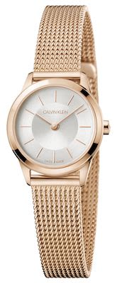 Calvin Klein Ladies' Minimal Watch Pink Gold/Silver