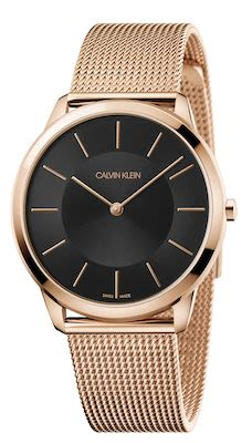 Calvin Klein Ladies' Minimal Watch Pink Gold/Black