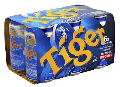 Tiger Original 24x33 cl. cans. - Alc. 5% Vol.