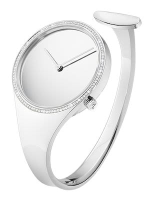 Georg Jensen Ladies Vivianna Bangle Watch With Diamonds
