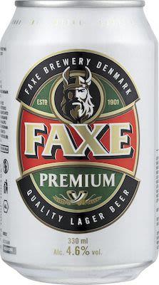 Faxe Premium 24x33 cl. cans. - Alc. 4.6% Vol.