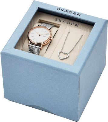 Skagen Ladies' Signatur Watch and Necklace Set