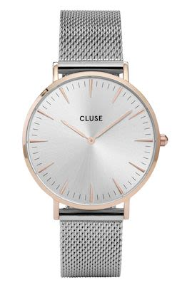 Cluse La Bohème Ladies' Mesh Watch Silver