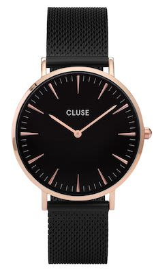 Cluse La Bohème Ladies' Mesh Watch Black
