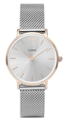 Cluse Minuit Ladies' Mesh Watch Silver