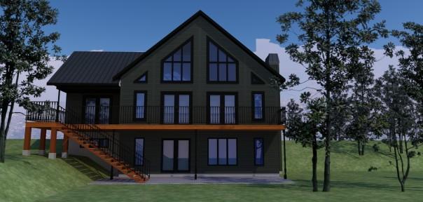 maison 2 étages et demie contemporaine