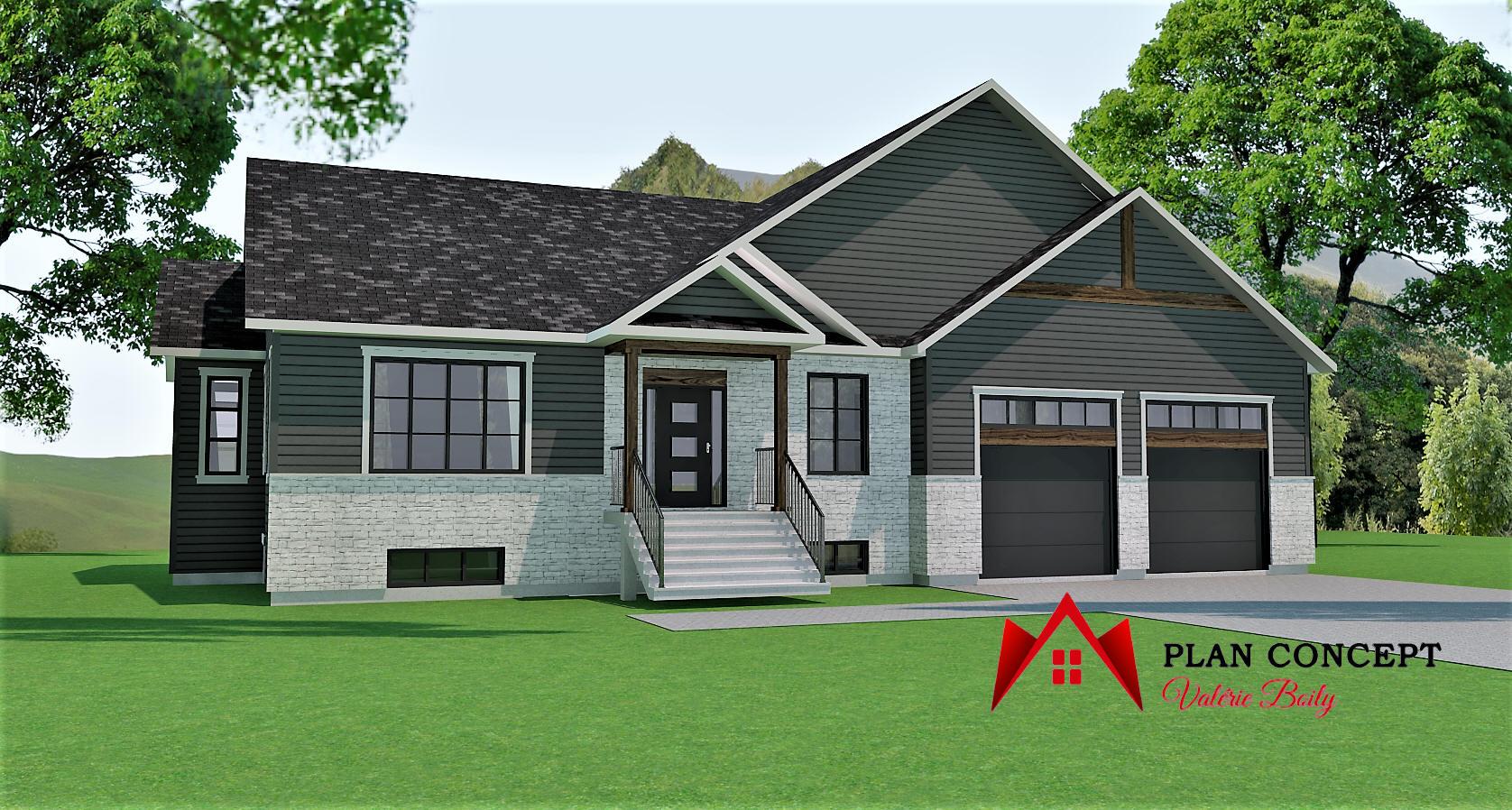 Maison avec sous-sol, garage double