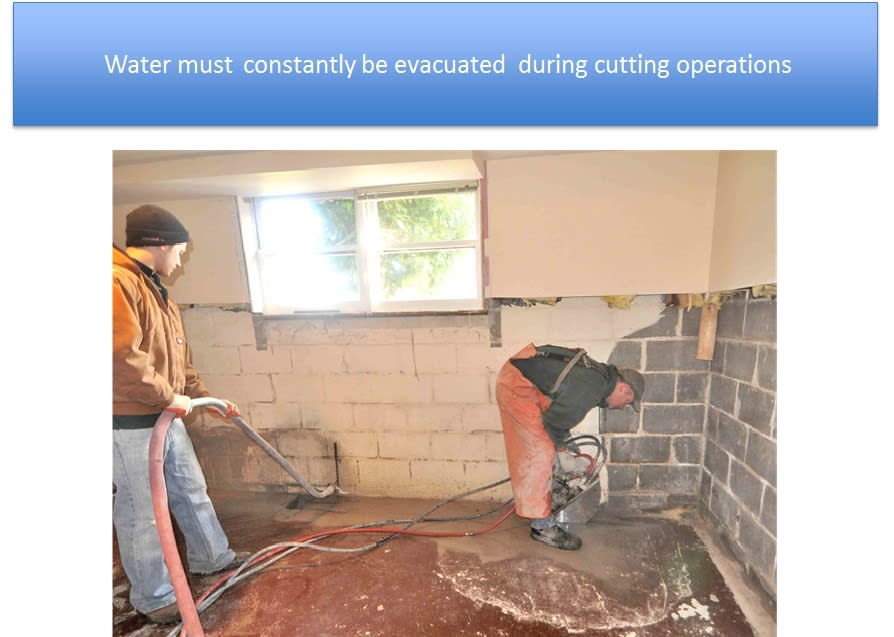 Evacuation Sucking Water Interior Waterproofing