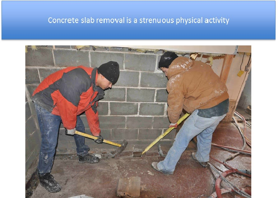 Concrete Slab Removal Interior Waterproofing