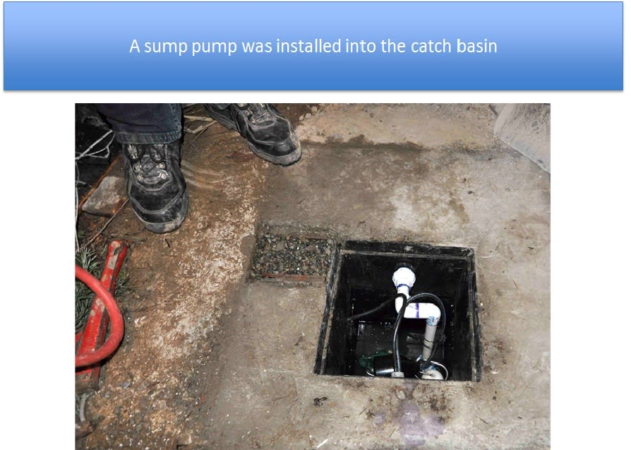 Sump Pump Installed