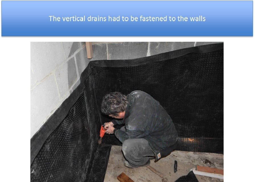 Vertical Drains Fastened To The Walls