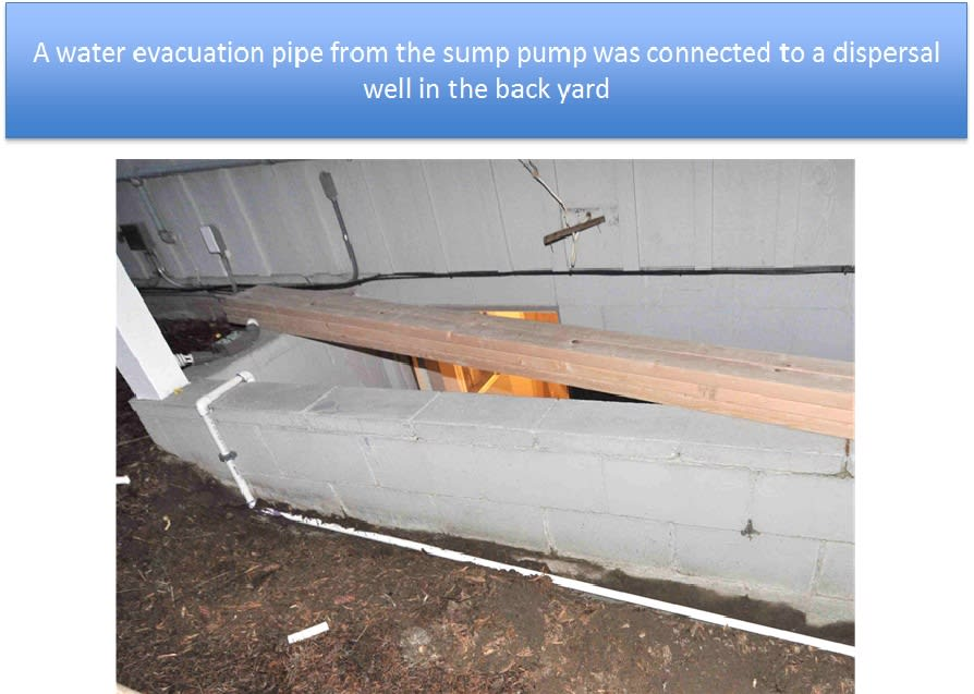 Discharge Pipe Installed