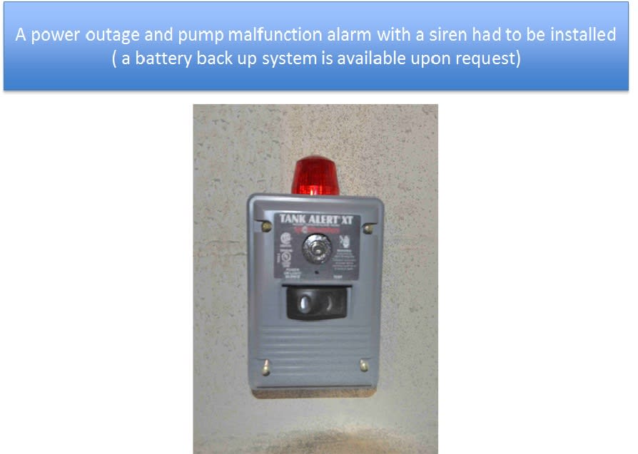 Sump Pump Alarm Installed