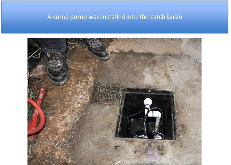 Sump Pump Installed