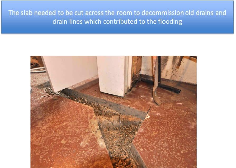 Old Concrete Drains Under Slab