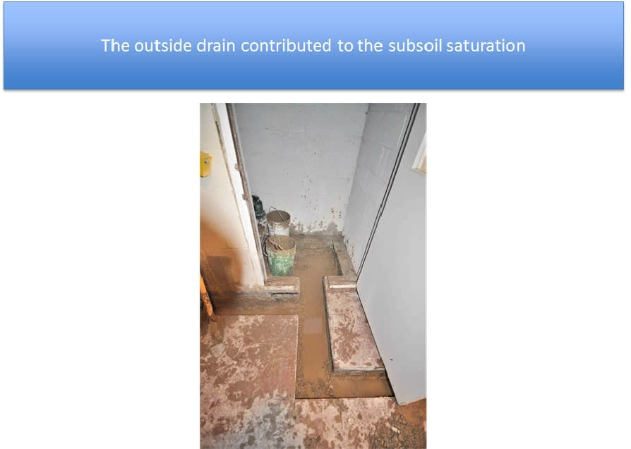 Water Intrusion from Outdoor Drain