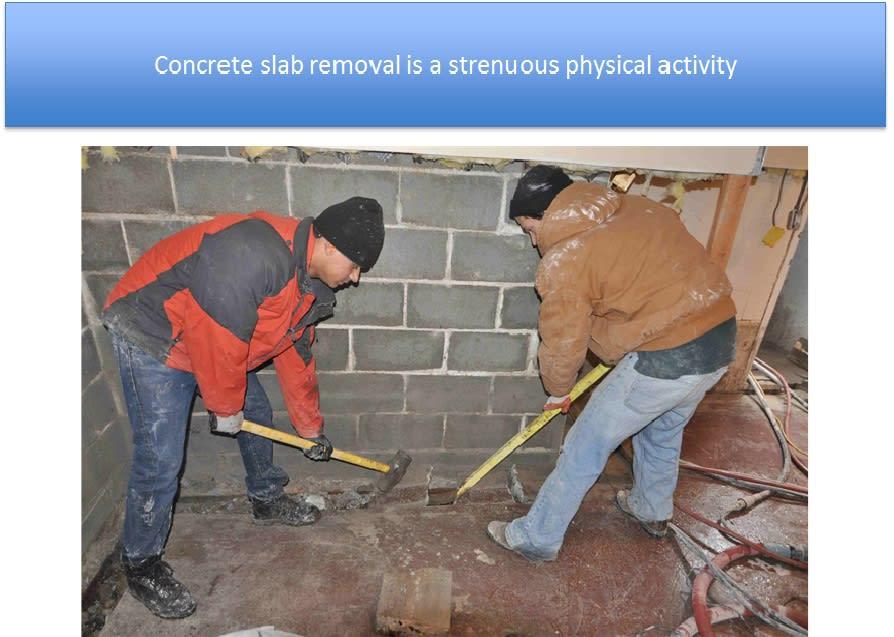Concrete Slab Removal Interior Waterproofing
