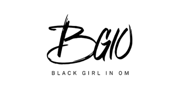 Logo of Black Girl in Om, which promotes holistic wellness and inner beauty for women of color