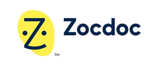 Logo of ZocDoc, a health tech startup founded by Nick Ganju