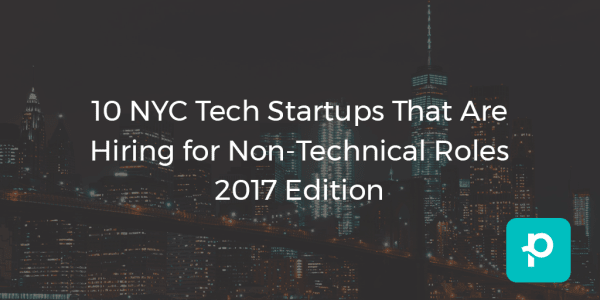 NYC tech startups need non-tech people on the team too