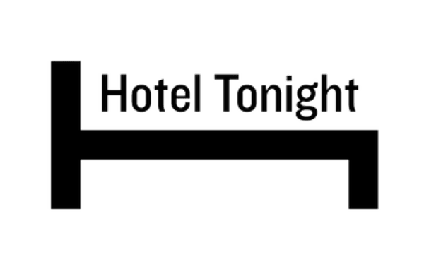 Logo of Hotel Tonight, a tech startup that connects people to affordable hotel rates
