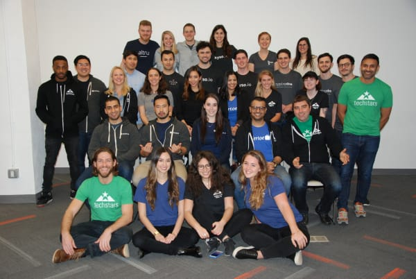 group photo of the techstars Winter 2018 Program