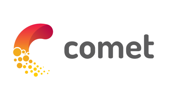 Logo of comet.ml, a tech platform that allows data scientists to track and measure machine learning data models