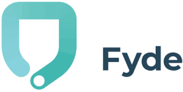 Logo of Fyde, a cybersecurity startup to protect your phone from malicious attacks.