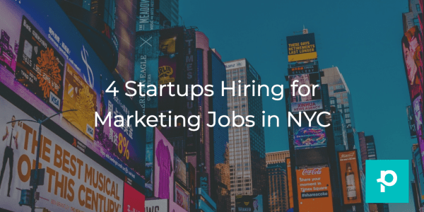 Looking for an innovative and exciting marketing job at a startup in NYC? Look no further.