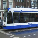 The first polyurethane tram…