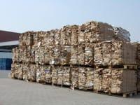 Clear cardboard or bales