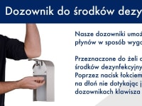 Elbow dispenser for disinfecting