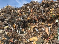 Steel scrap contaminated