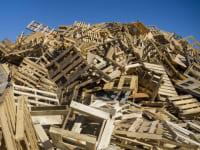 Odpad drewna, palety