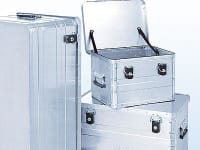 Lockable aluminum boxes