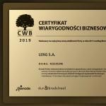 Certyfikat Wiarygodności Biznesowej…