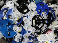 Odpad Szpula PS z etykietą