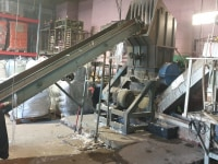 Waste wash line for LDPE