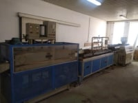 Extrusion line for pipes