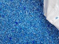 HDPE niebieski kosz przemiał