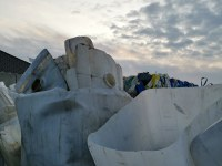 Abfall zbelowane HDPE