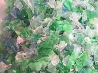 Płatek PET mix, zielono-niebieski