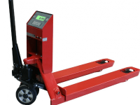 Pallet truck with a verified