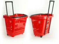 Basket baskets on 2 wheels