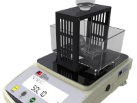 Plastic density measuring