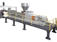 Extrusion line for cast