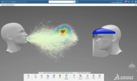 Dassault Systèmes korzysta z symulacji przepływu cząstek podczas kichania do projektowania PPE